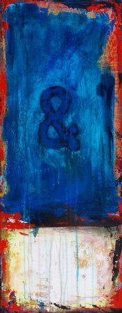 """Us, acrylic on canvas, 30 x 12"""" - SOLD"""