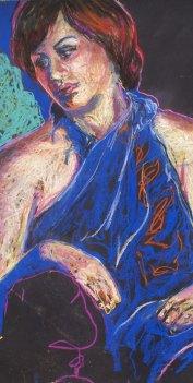 """Rhia,"" pastel on paper, 32 x 18"""