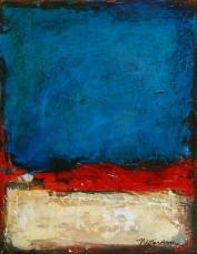 "True Blue, acrylic on canvas, 12 x 9"" - SOLD"