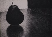"""When I Am Alone, charcoal on paper, 22 x 30"""""""